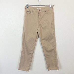 Wrangler High Rise Tan Stretch Denim Jeans sz 10